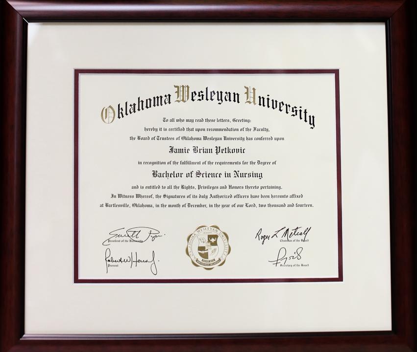 Custom Diploma Frame (7 of 7)